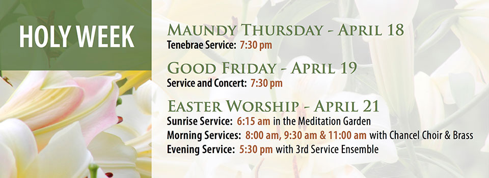 Holy Week & Easter 2019